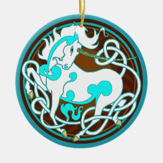 2014 ornement en céramique de licorne -