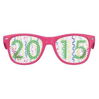 2015 flammes de partie de nouvelle année lunettes de fête enfant