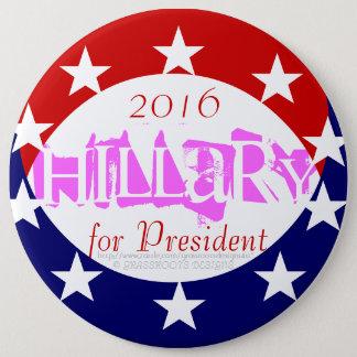 """2016 6"""" pièce de monnaie rose indiquent Hillary Badge"""