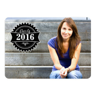 2016 Badge Graduation Open House Invitations