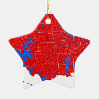 2016 élection présidentielle - résultats de niveau ornement étoile en céramique