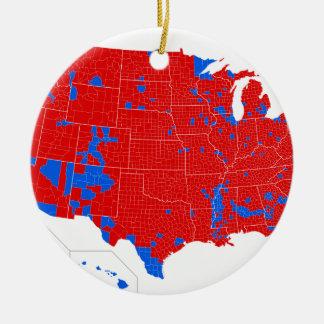 2016 élection présidentielle - résultats de niveau ornement rond en céramique