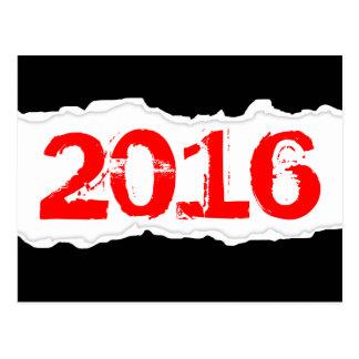 2016 (papier déchiré) carte postale