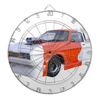 2016 voiture orange et blanche de muscle jeu de fléchettes