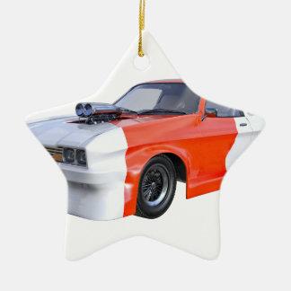2016 voiture orange et blanche de muscle ornement étoile en céramique