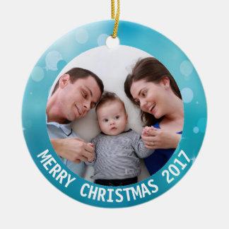 2017 ajoutez votre ornement de Noël de photo de