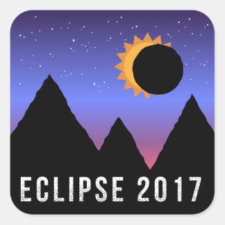 2017 autocollants orientés d'éclipse solaire