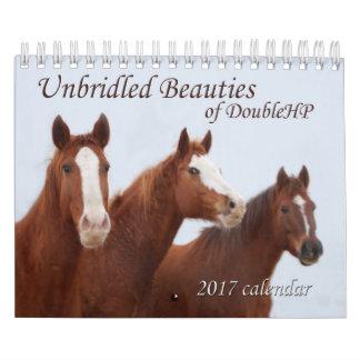 2017 beautés déchainées de calendrier de DoubleHP