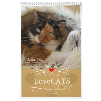 2017 calendrier de LoveCATS - deuxième édition