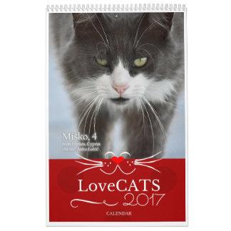 2017 calendrier de LoveCATS - première édition