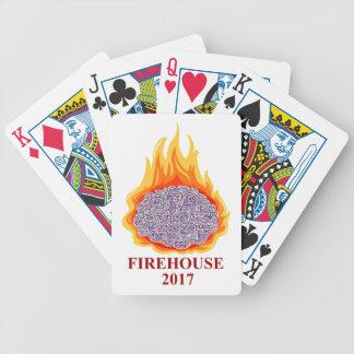 2017 cartes de jeu flamboyantes de bouche jeu de cartes