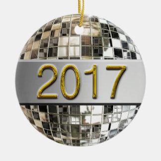 2017 ornements argentés de scintillement de boule