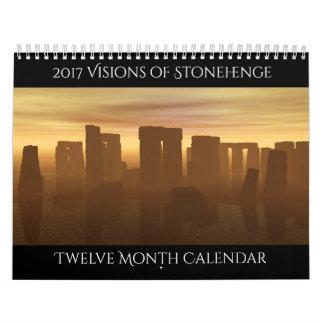 2017 visions de calendrier de Stonehenge