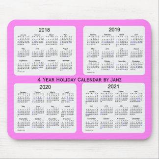 2018-2021 calendrier violet de vacances par Janz Tapis De Souris