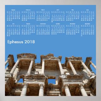 2018 calendrier Ephesus, Turquie Poster