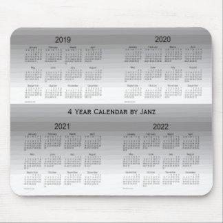 2019-2022 le gris ombrage le calendrier de 4 ans tapis de souris