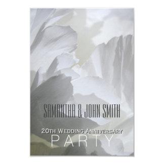 20ème invitation 1 de fête d'anniversaire de carton d'invitation 8,89 cm x 12,70 cm