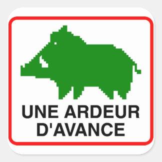 20x Small Sticker - UNE ARDEUR D'AVANCE