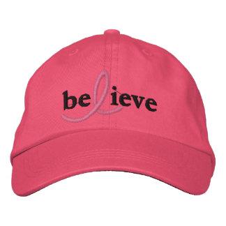 ($21,95) Croyez le casquette de ruban de cancer du