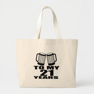 21 acclamations à mon anniversaire grand tote bag