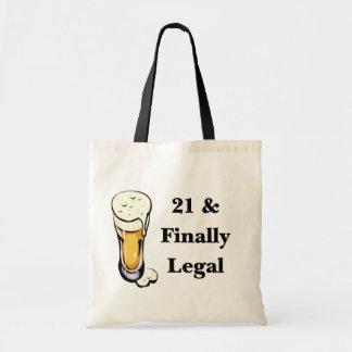 21 et enfin juridique sac en toile