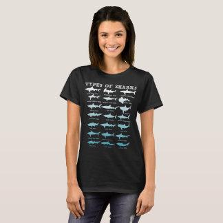 21 types de T-shirt marin de biologie de requins
