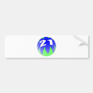 21ème Anniversaire Autocollant Pour Voiture