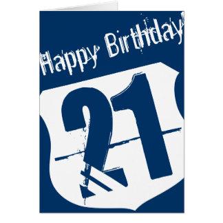 21ème Carte d'anniversaire