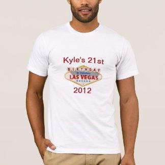 21ème chemise de Las Vegas de l'anniversaire de T-shirt