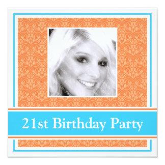 21ème Damassé d'invitations de fête d'anniversaire