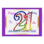 21ème fille heureuse d'anniversaire ! carte