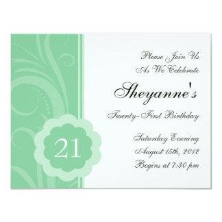 21ème invitation de fête d'anniversaire de remous