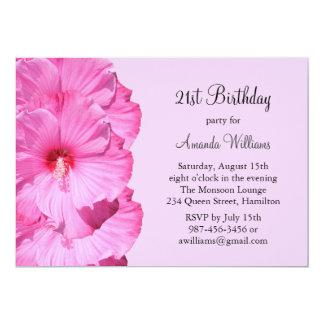 21ème invitation tropicale d'anniversaire