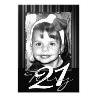 21ème Invitations d anniversaire