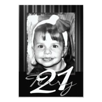 21ème Invitations d'anniversaire