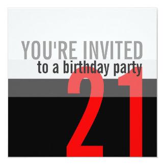 21ème Invitations de fête d'anniversaire