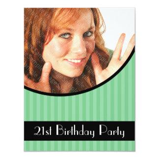 21ème Les invitations de fête d'anniversaire ont