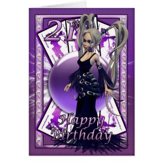 21ème Poupée gothique de carte d'anniversaire,