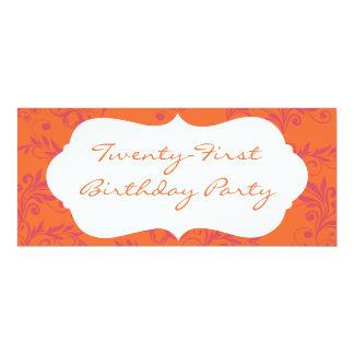 21èmes invitations de fête d'anniversaire de