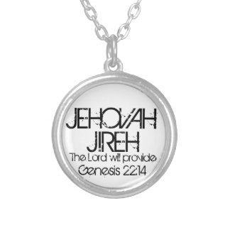 22h14 de genèse de vers de bible de Jéhovah Jireh Pendentif Rond