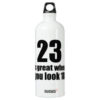 23 est grand quand vous regardez l'anniversaire bouteille d'eau en aluminium