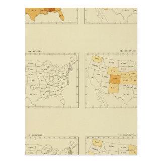 23 migration d'un état à un autre 1890 ALCT Carte Postale