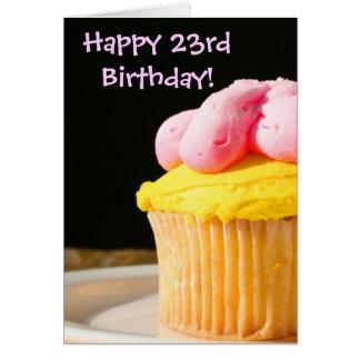 23ème carte de voeux heureuse de petit gâteau