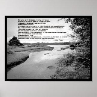 23ème Photo de paysage de psaume Posters
