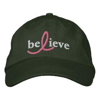 ($24,95) Croyez le casquette de ruban de cancer du