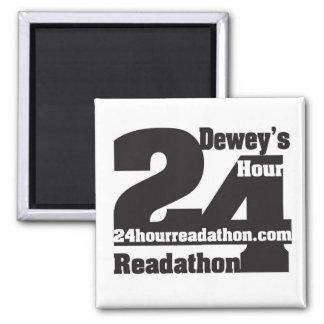 24 aimants de Readathon de l'heure de Dewey