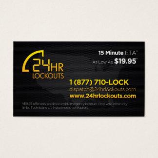 24 cartes de visite de lock-out d'heure