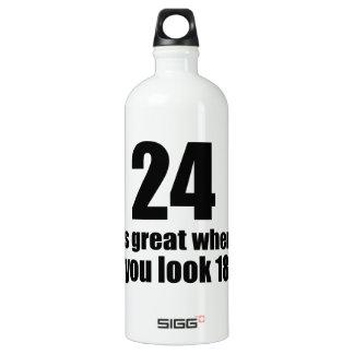 24 est grand quand vous regardez l'anniversaire bouteille d'eau en aluminium