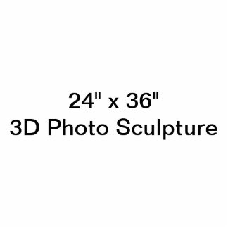 "24"" personnalisé x 36"" sculpture en photo photo sculpture"