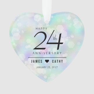 24ème célébration opale élégante d'anniversaire de